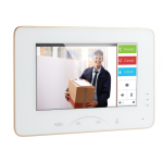 "7"" Touch-Screen Indoor Station; 8CH Alarm ; 10/100Mbps Ether"