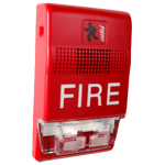 H/S WALL MNT 15-110CD 24VDC RED FIRE