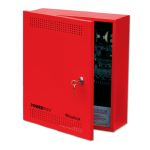 24VDC 8A Fire Filtered/Regulated Power Supply, Red Cabinet